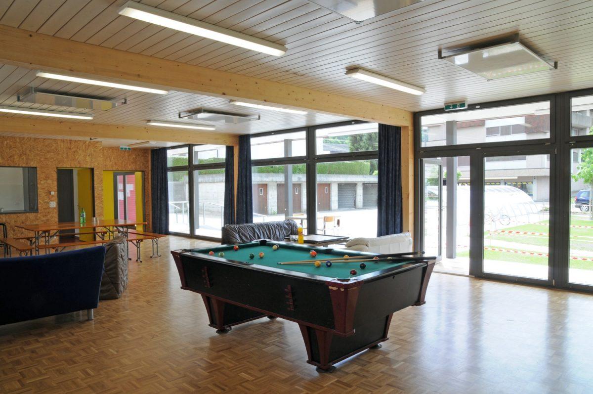 Jugendpavillon, Innenansicht