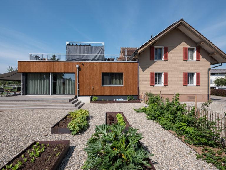 An-/Umbau EFH Bühler, Ettiswil, Aussenansicht